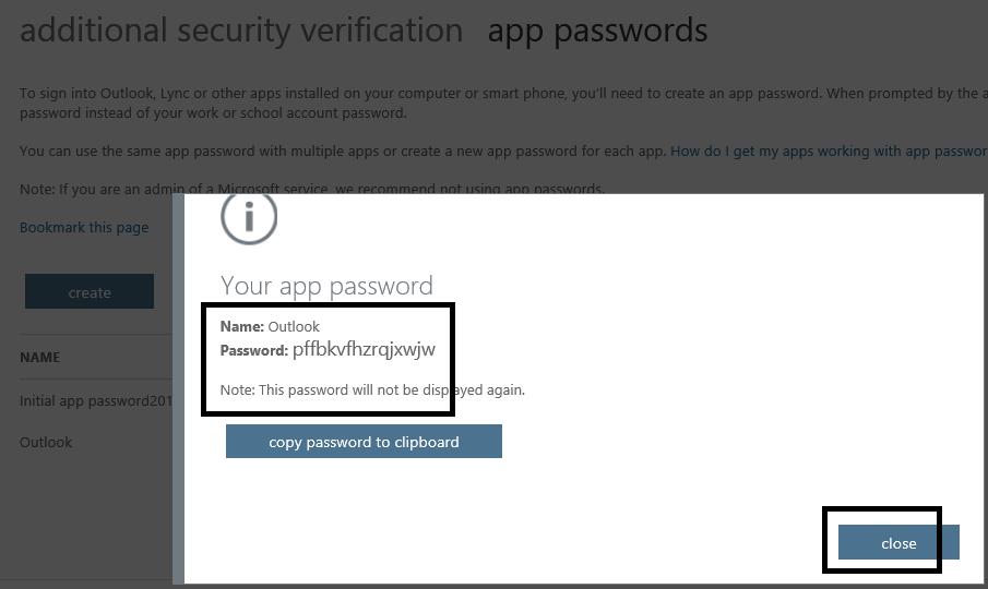 Generate App Password